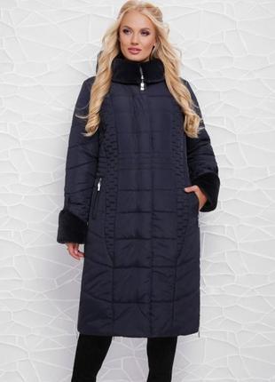 Зимнее женское пальто в больших размерах