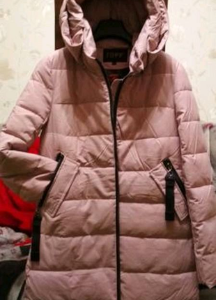 Стильная женская зимняя куртка пальто на р М_Л