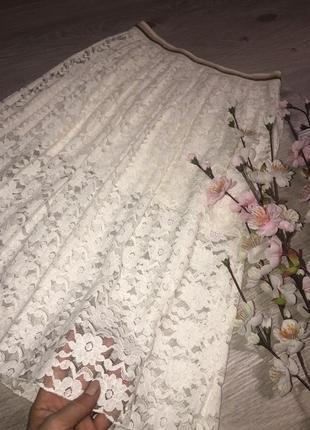 Очень  красивая кружевная юбка, юбка миди, нарядная юбка, юбка...