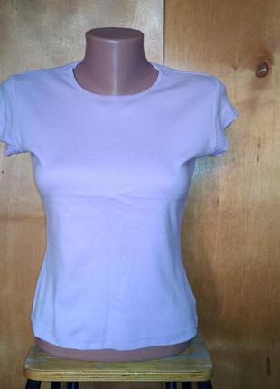 Р 10 / 44-46 лиловая футболка с коротким рукавом коттон хлопок...