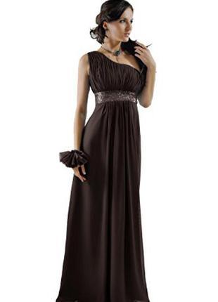 Вечернее выпускное нарядное длинное платье макси в пол