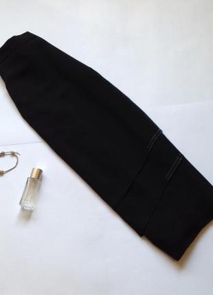 Классическая черная юбка миди в форме запаха