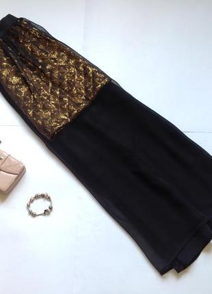 Длинная вечерняя нарядная юбка макси в пол в пайетки jane norman