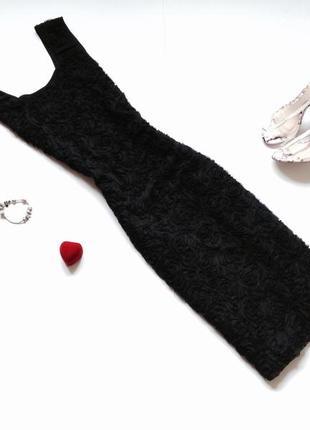 Черное платье миди autonomy