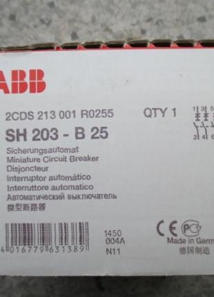 Автоматический выключатель ABB В25А