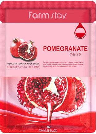 Тканевая маска Farm Stay Visible Difference Pomegranate Mask P...