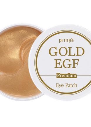 Гидрогелевые патчи для век с золотом Petitfee Premium Gold & E...