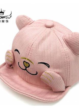 Кепка котик рожева 4383