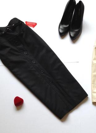 Черная классическая юбка миди карандаш south
