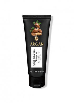 Восстанавливающий шампунь с аргановым маслом May Island Argan ...