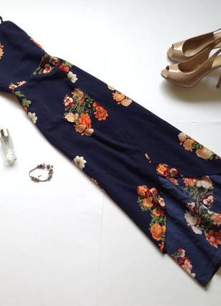 Платье миди в форме запаха