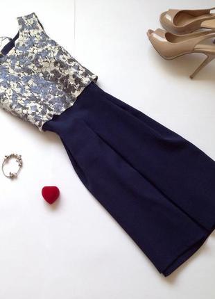 Темно-синее платье closet