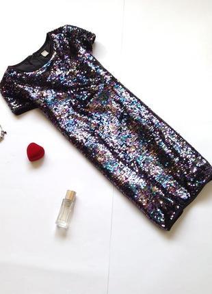 Платье в пайетки для девочки 8 - 9 - 10 лет