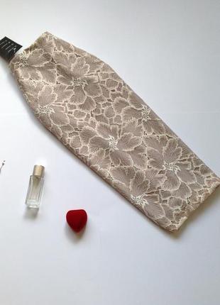 Кружевная юбка миди карандаш