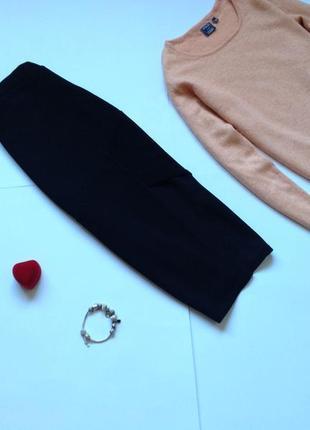 Черная юбка миди карандаш  missguided