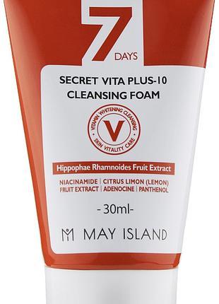Витаминизирующая пенка для умывания May Island 7 Days Secret V...