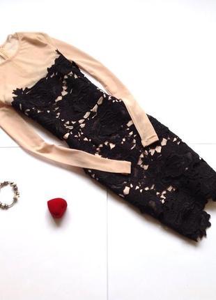 Вечернее кружевное платье missguided