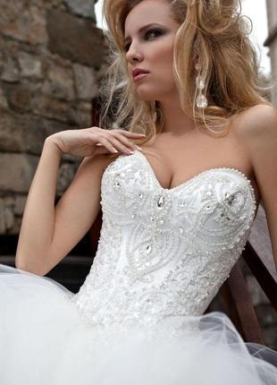 Дизайнерское свадебное пышное платье оксаны мухи