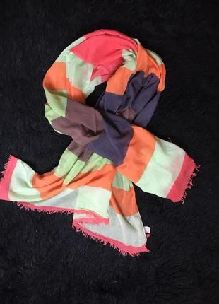 Большой яркий многофункциональный хлопковый  шарф от manguun