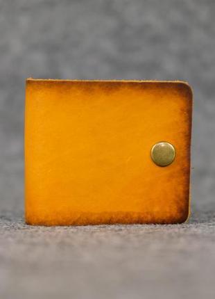 Кожаный компактный кошелек женский натуральная итальянская кож...