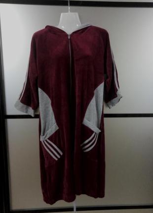 Женский велюровый халат,есть размеры расцветки. турция