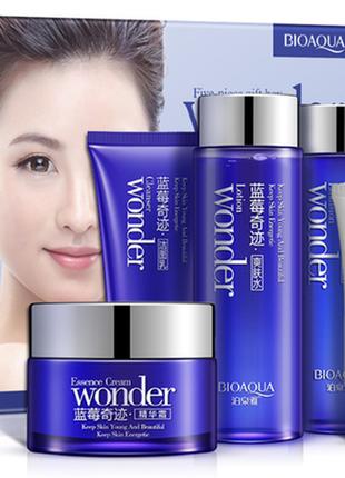 Набор bioaqua wonder из 4 средств по уходу за кожей для лица с...