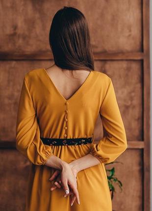 Элегантное платье длины миди