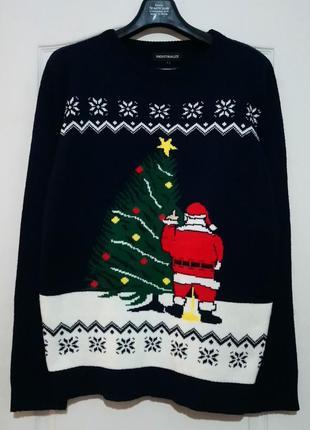Новогодний свитер. пьяный санта