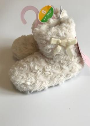 Красивые домашние тапочки сапожки меховые для детей отличный под