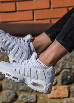 36 37 38 39 40 женские кроссовки nike air max 95 white