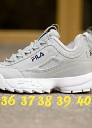 36 37 38 39 40 крутые женские кроссовки fila disruptor ii grey...