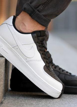 Крутые мужские кроссовки кеды nike air force low 1 black white...
