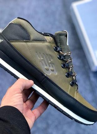 Мужские ботинки кроссовки сапоги new balance 754 оливковые olive