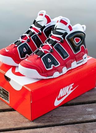 Nike air more uptempo red black white красные демисезонные