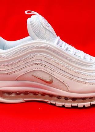 Nike air max 97 triple full white женские кроссовки белого цве...