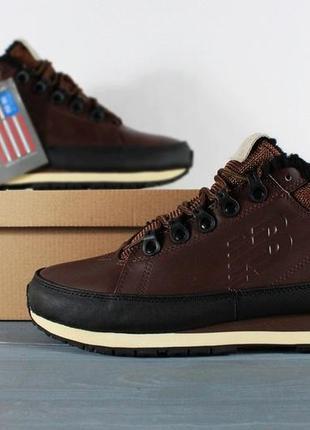 41-45 мужские ботинки new balance 754 brown коричневые с мехом...