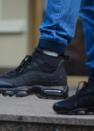 Nike air max 95 sneakerboot мужские зимние ботинки сапоги тепл...
