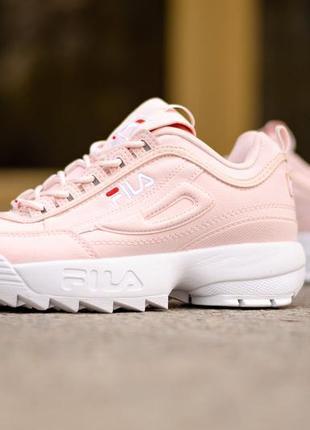 Нежные fila disruptor ii pink женские кроссовки фила розового ...