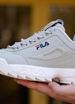 Шикарные женские кроссовки fila disruptor ii grey серые демисе...