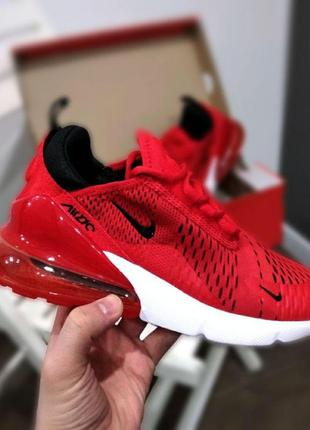Кроссовки nike air max 270 red white