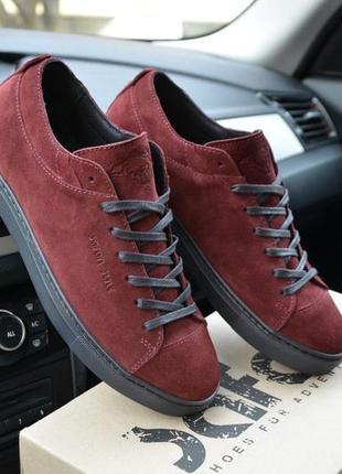 Шикарные мужские туфли мокасины safari hudromax цвет бордовые