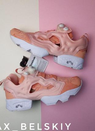 Шикарные женские кроссовки reebok insta pump pink