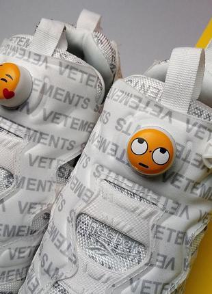 Шикарные кроссовки reebok insta pump vetements emoji