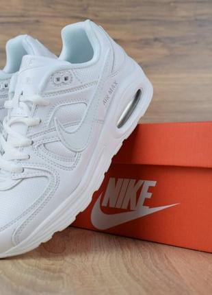 Шикарные женские кроссовки nike air max 90 полностью белые 3 б...