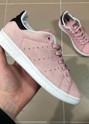 Шикарные женские кеды adidas stan smith pink