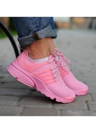 Шикарные женские кроссовки nike air presto pink