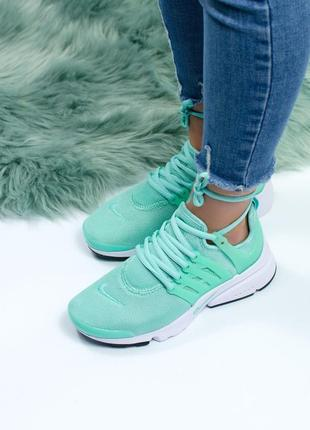 Шикарные женские кроссовки nike air presto mint