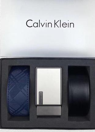 Мужской подарочный набор ремень calvin klein (2 штуки в компле...
