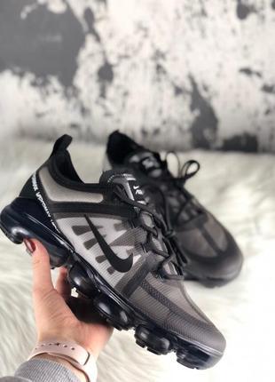 Шикарные мужские кроссовки nike air vapormax 2019 black