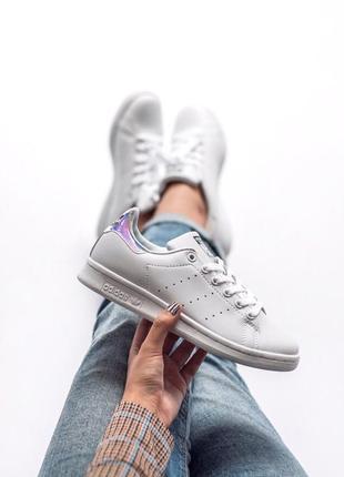 Шикарные женские кеды adidas stan smith white